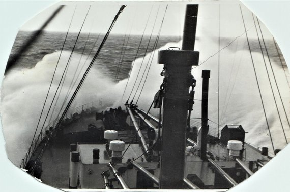 I.Korsakienės archyvai /Garlaivio, kuriuo Samuelis Evansevičius pasiekė JAV, fotografija
