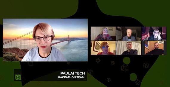 """VU nuotr./""""Paulai Tech"""" ir komisijos nariai"""