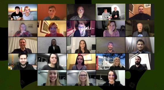 VU nuotr./Edtech Hackathon dalyviai, komisija ir organizatoriai