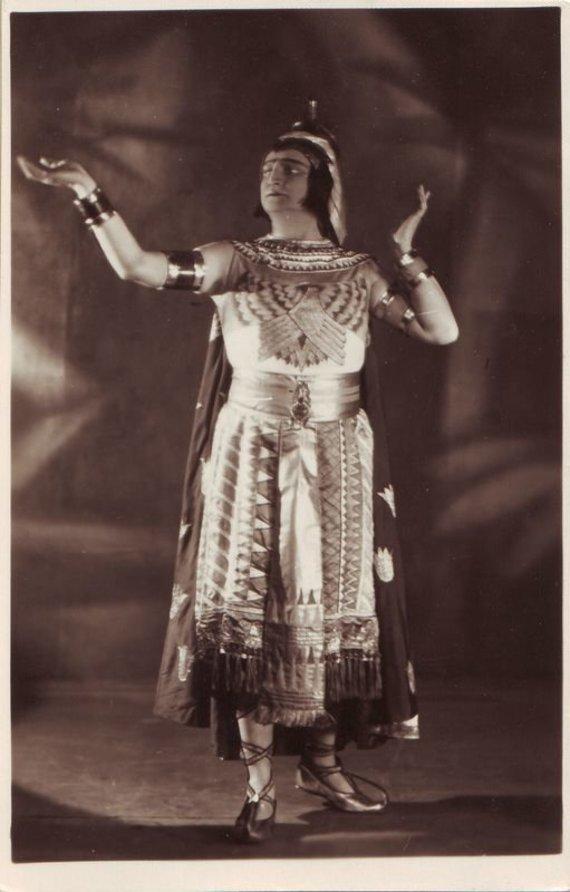 """""""Europeana"""" nuotr./Radamesas – Kipras Petrauskas. G. Verdi """"Aida"""". 1927 m."""