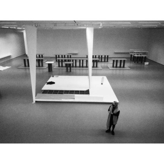 Vadimo Šamkovo nuotr./Elona Lubytė, pradedant eksponuoti Aleksandros Kasubos parodą NDG (architektai – R.Kilčiauskas, A.Kavaliauskas)