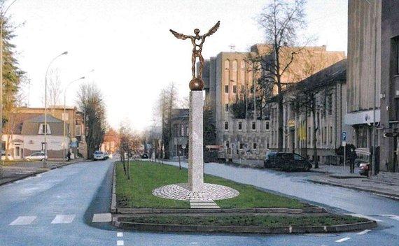 """""""Jūsų Panevėžys"""" nuotr./Respublikos ir P.Puzino gatvių sankryžoje stovėsianti skulptūra"""