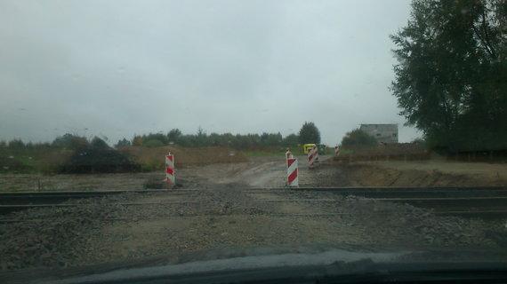 Geležinkelio pervažos ruožas prie Šumsko pl.