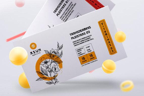 """""""Asun"""" archyvo nuotr./Maisto papildų rinkoje vitaminų pleistrai prilyginami stebuklui: per odą, nedirgindami skrandžio, jie patenka tiesiai į kraują"""