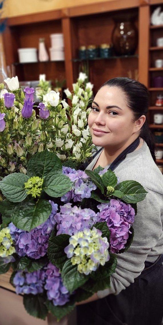 Asmeninio archyvo nuotr./Floristė Inesa Borkovska šviežias gėles vadina neatsiejama bet kurių namų dalimi