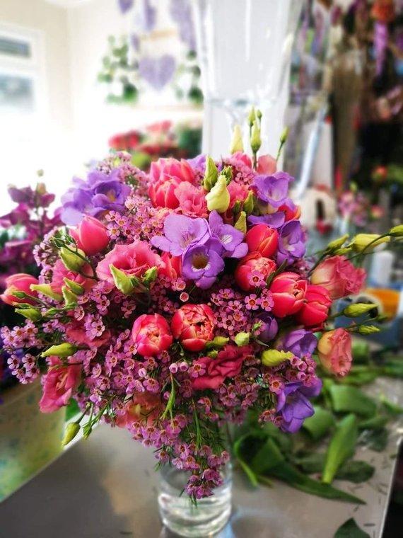 """Asmeninio archyvo nuotr./""""Kaskart su gėlių puokšte į namus grįžta estetikos pojūtis"""", – tikina I.Borkovska"""