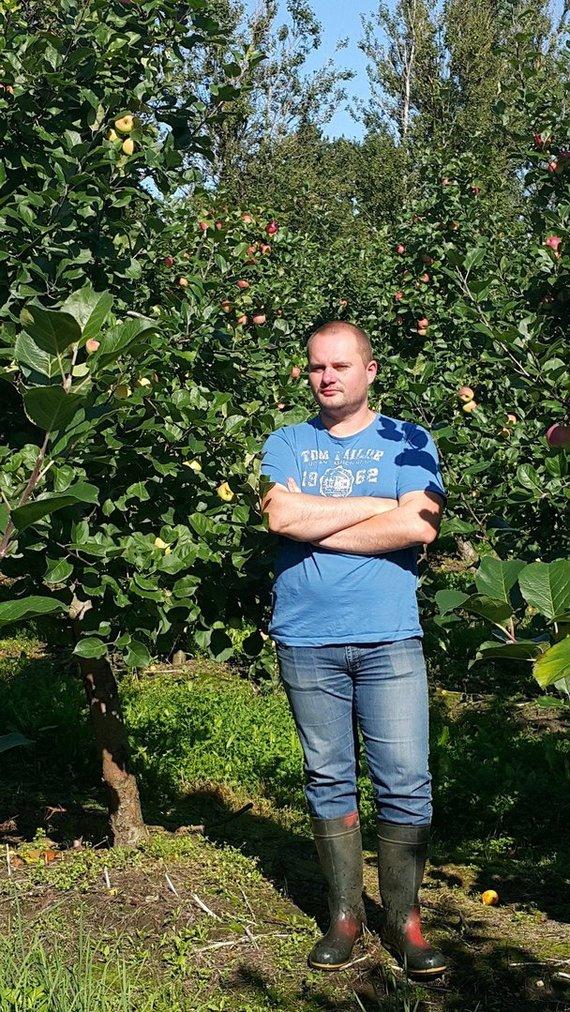 Asmeninio archyvo nuotr./Trejus metus neatostogavęs medelyno vadovas G. Kuliešius sodininkystę vadina gyvenimo būdu