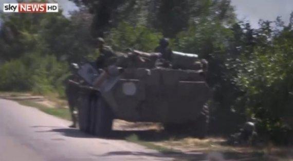 """Nuotr. iš """"YouTube""""/Rusijos kariai Ukrainoje"""