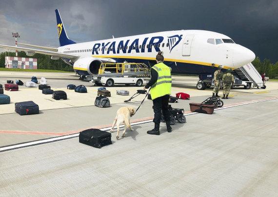 """Scanpix""/AP nuotr./Minske nutupdytas ""Ryanair"" lėktuvas"