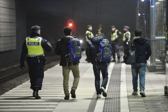 """""""Reuters""""/""""Scanpix"""" nuotr./Pabėgėliai Švedijoje"""