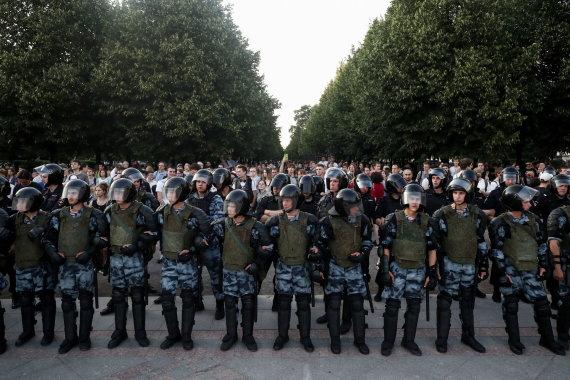 """""""Scanpix"""" nuotr./Protestas Maskvoje"""
