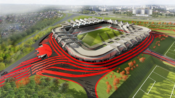 Vilniaus savivaldybės nuotr./Nacionalinio stadiono vizualizacija