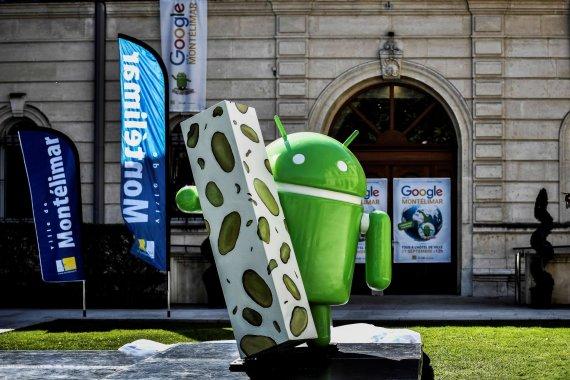 """AFP/""""Scanpix"""" nuotr./""""Android Nougat"""" operacinės sistemos talismanas"""