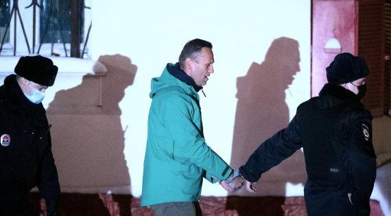 """""""Scanpix""""/ITAR-TASS nuotr./Sulaikytas Aleksejus Navalnas"""
