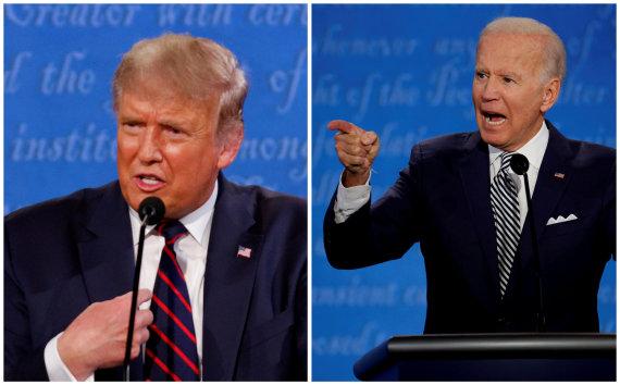 """""""Reuters""""/""""Scanpix"""" nuotr./Donaldas Trumpas, Joe Bidenas"""