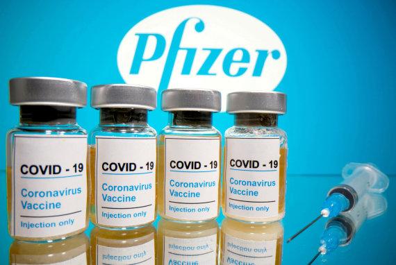 """""""Reuters""""/""""Scanpix"""" nuotr./""""Pfizer"""" vakcina"""