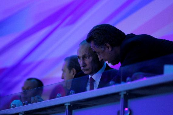 """""""Scanpix"""" nuotr./Vitalijus Mutko ir Vladimiras Putinas"""