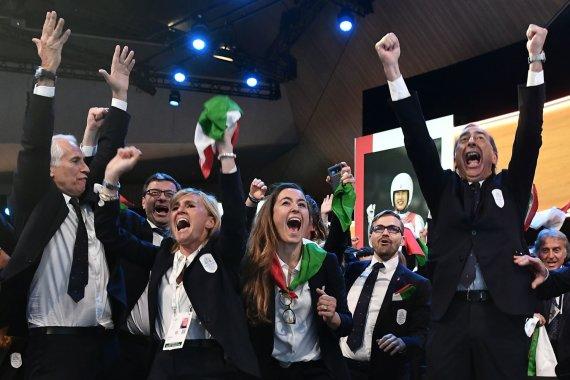 "AFP/""Scanpix"" nuotr./Italijos delegacija"