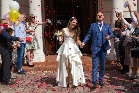 Mariaus Vizbaro / 15min nuotr./Donato Juršėno-Donciavo ir Vaidos Viršutytės vestuvių akimirka