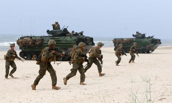 """AFP/""""Scanpix"""" nuotr./Amerikiečių kariai Baltijos šalyse"""