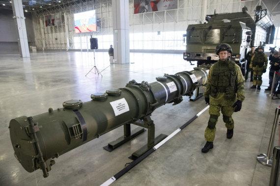 """""""Scanpix""""/AP nuotr./Rusijos raketų sistema 9M729"""