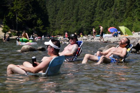 """""""Reuters""""/""""Scanpix"""" nuotr./Rekordinė karščio banga Kanadoje"""