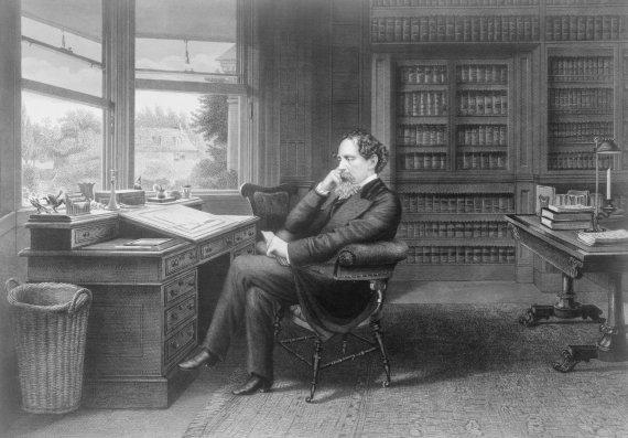 """""""Scanpix"""" nuotr./Charlesas Dickensas savo studijoje Gadšilyje"""