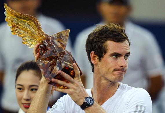 """""""Scanpix"""" nuotr./Andy Murray 2014-aisiais metais tapo Šendženo turnyro čempionu"""