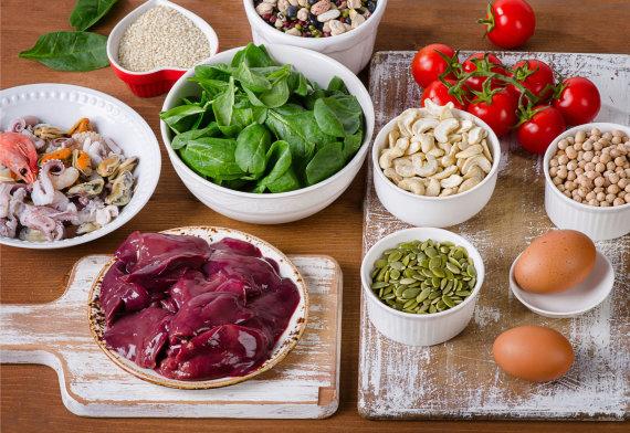 Fotolia nuotr./Maisto produktai, kuriuose gausu geležies