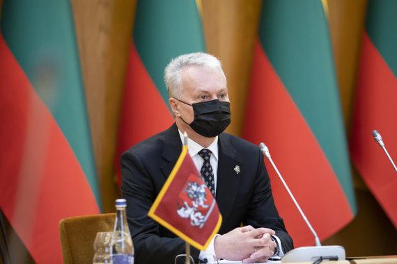 Lukas April / 15min photo / Seimas Board met with President Gitanas Nausėda