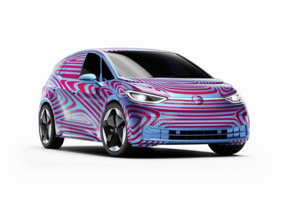 """Volkswagen nuotr./Elektromobilis """"Volkswagen ID.3"""""""