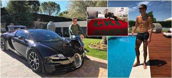 """""""Instagram"""" nuotr./Cristiano Ronaldo namai ir Veyron"""