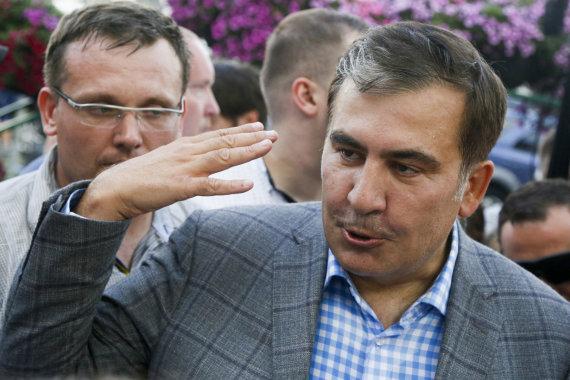"""""""Scanpix""""/AP nuotr./Į Ukrainą grįžęs Michailas Saakašvilis"""