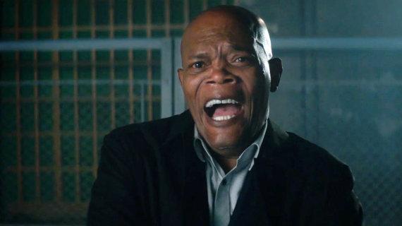 """Kadras iš filmo/Samuelis L. Jacksonas komedijoje """"Žudiko asmens sargybinis"""""""