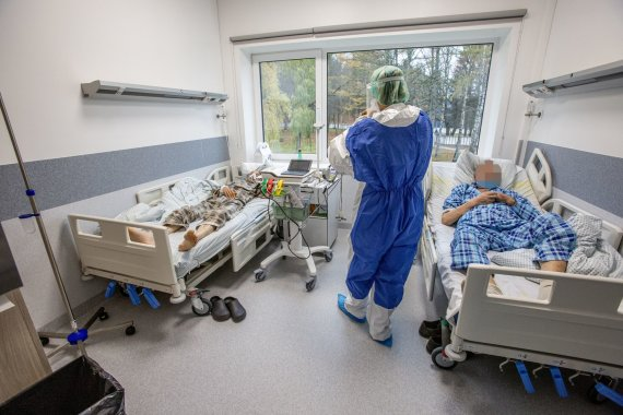 Vidmanto Balkūno nuotr./VUL Santaros klinikos. Kova su koronavirusu