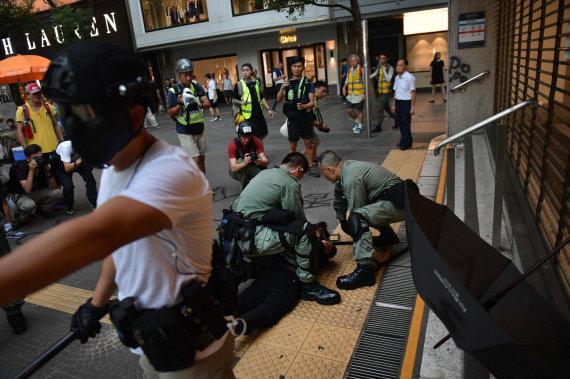 "AFP/""Scanpix"" nuotr./Protestai Honkonge"