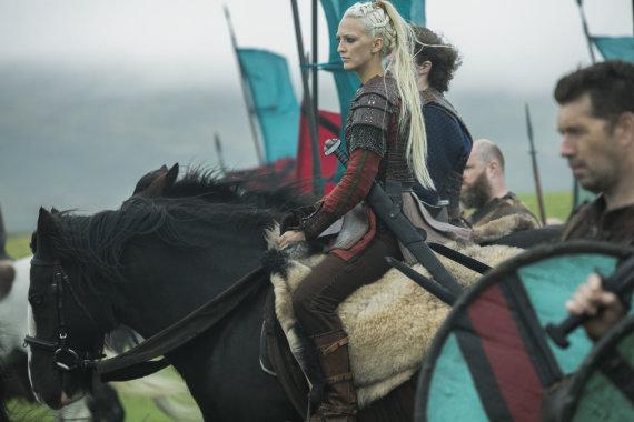 """Organizatorių nuotr./Georgia Hirst seriale """"Vikingai"""""""