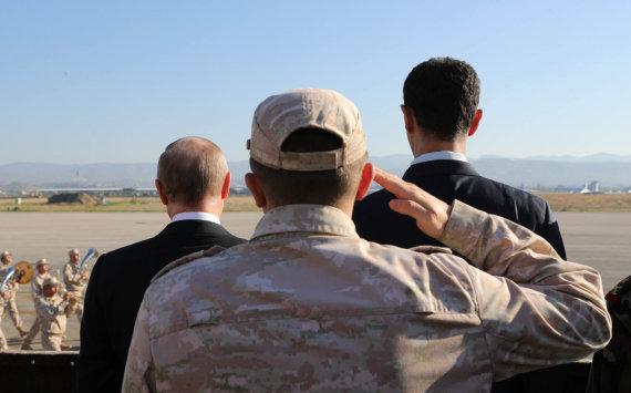 """""""Scanpix""""/AP nuotr./V.Putinas (kairėje) ir B.al-Assadas Sirijoje"""