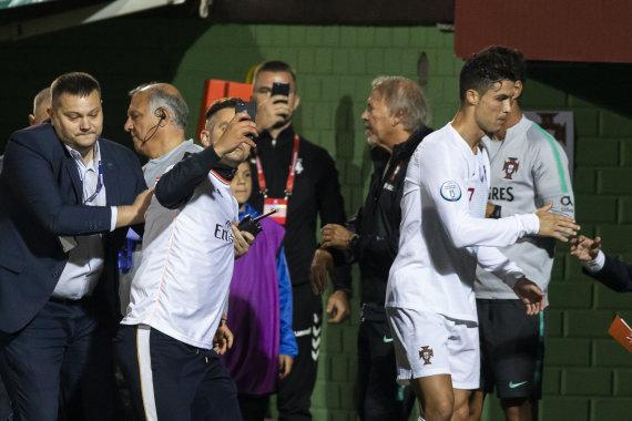 Luko Balandžio / 15min nuotr./Lietuvio akibrokštas Cristiano Ronaldo nesupykdė