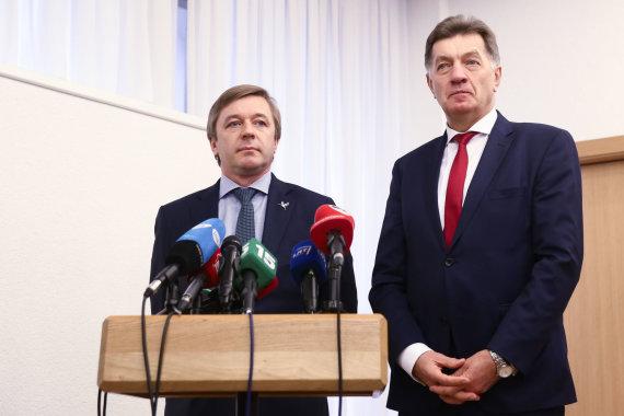 Luko Balandžio / 15min nuotr./Algirdas Butkevičius ir Ramūnas Karbauskis