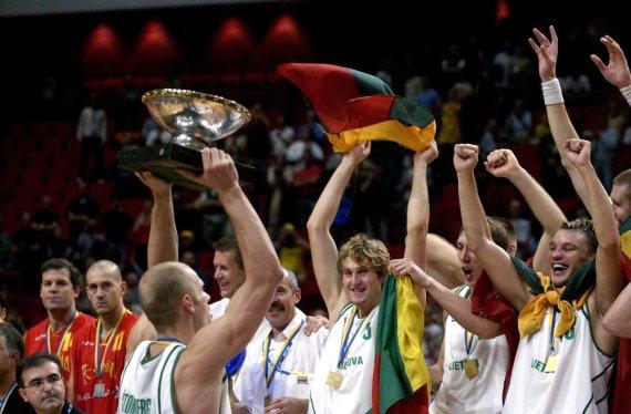 """""""Scanpix"""" nuotr./Lietuvos rinktinė – 2003 m. Europos čempionė"""