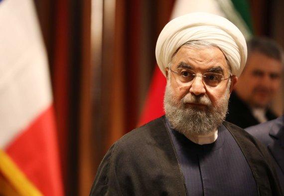 """AFP/""""Scanpix"""" nuotr./Irano prezidentas Hassanas Rouhani JT Generalinėje Asamblėjoje"""