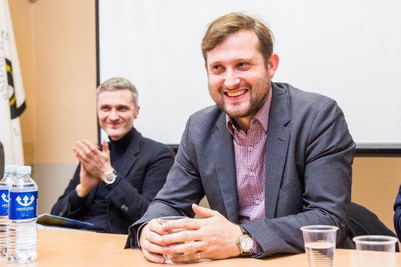 Luko Balandžio / 15min nuotr./Iš dešinės: Deividas Šlekys ir Aurimas Švedas