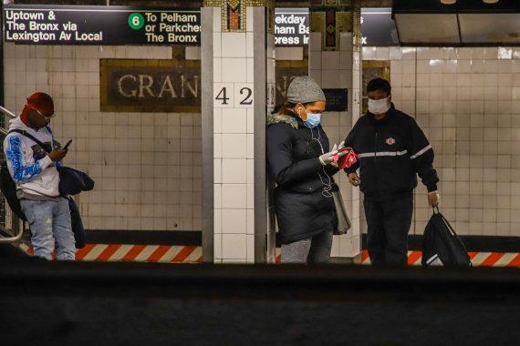 """""""Scanpix"""" nuotr./Ištuštėjęs Niujorko metro"""