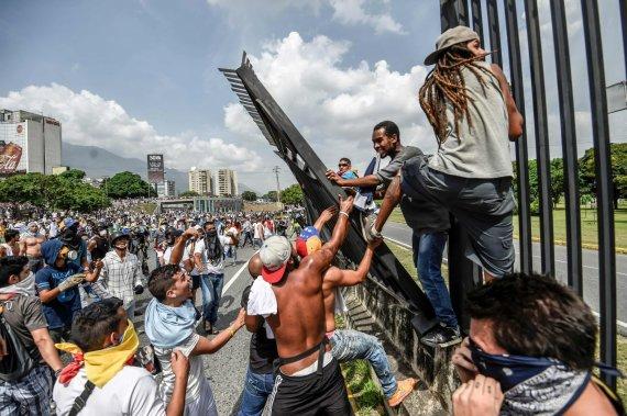 "AFP/""Scanpix"" nuotr./Demonstracija Venesueloje"