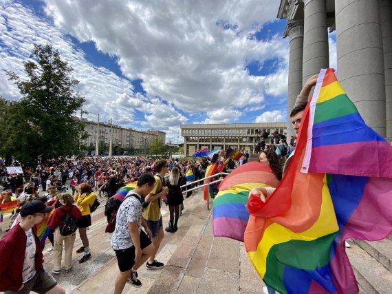 Valdo Kopūsto / 15min nuotr./Vilniuje rengiamos LGBT eitynės už lygybę