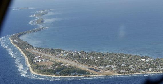 """""""Scanpix""""/AP nuotr./Taip atrodo didžioji Tuvalu valstybės sala"""