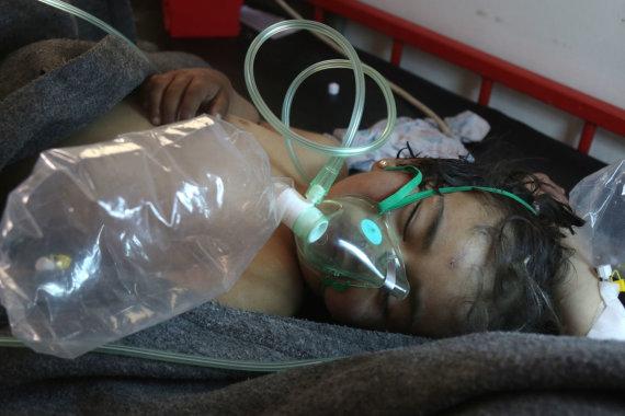 """AFP/""""Scanpix"""" nuotr./Cheminio ginklo ataka Sirijoje"""