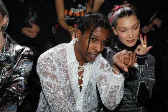 """""""Scanpix"""" nuotr./ASAP Rocky su Bella Hadid"""