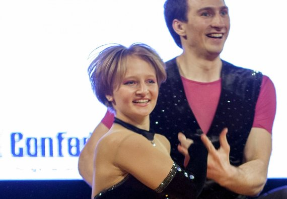 """""""Reuters""""/""""Scanpix"""" nuotr./Katerina Tichonova dalyvavo realybės šou, kuriame demonstravo gebėjimą šokti"""